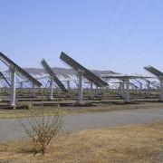 Mirrors at Spanish solar power tower